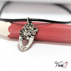 Tear flower pendant